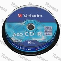 VERBATIM, CD-R, 10 PACK , cake box, 52x, 700MB, 43437, DataLife, Extra Protection