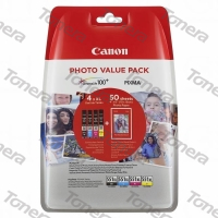 Canon CLI551XL, 6443B006 set C+M+Y+BK originální cartridge 4*11ml,