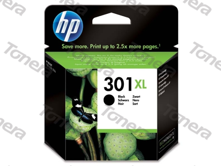 HP CH563E, typ 301XL Black originální cartridge 8ml,480s