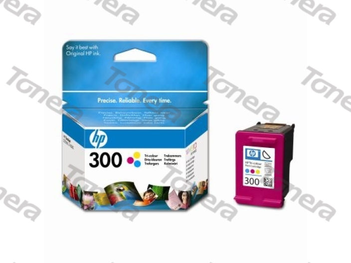 HP CC643E, typ 300 Color originální cartridge 4ml,165s