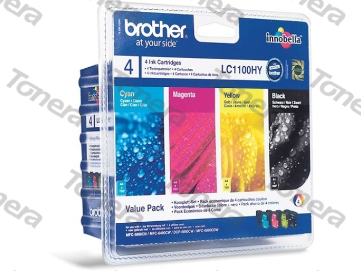 Brother LC1100HY set Black+C+M+Y originální cartridge ,1x900s, 3x750s