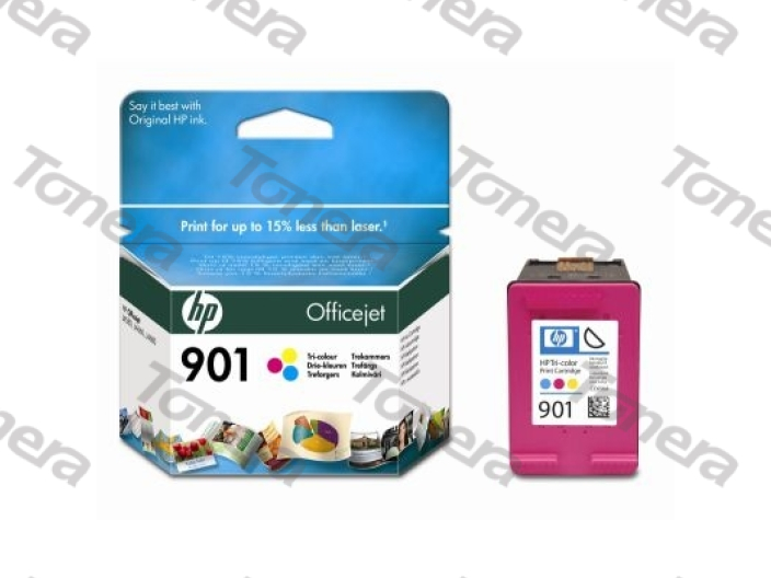 HP CC656A, typ 901 Color originální cartridge 9ml,360s