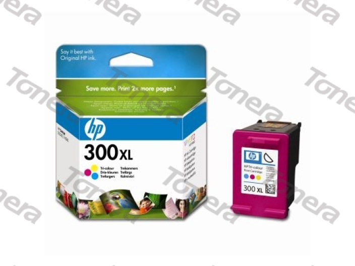 HP CC644E, typ 300XL Color originální cartridge 11ml,440s