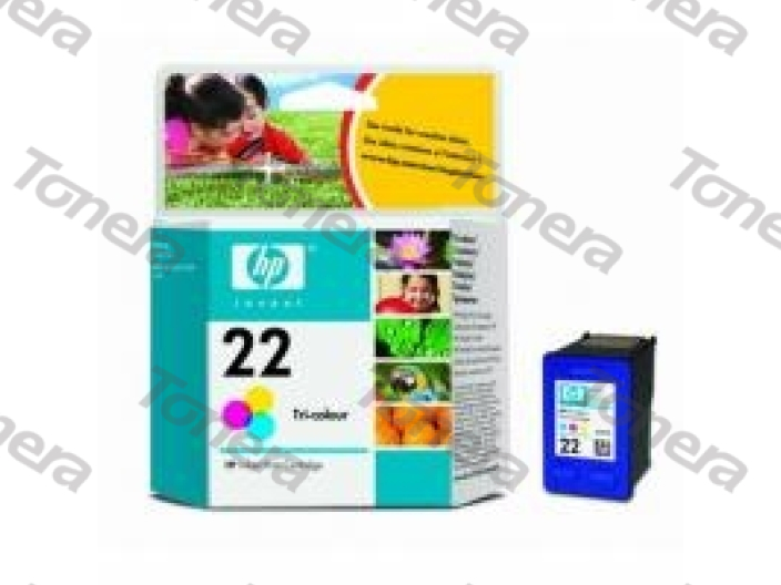 HP C9352A, typ 22 Color originální cartridge 5ml,165s