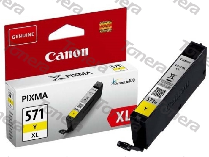 Canon CLI571XL, 0334C001 Yellow originální cartridge 11ml,715s