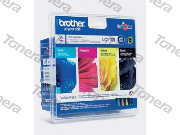 Brother LC1100 set Black+C+M+Y originální cartridge ,450s+3x325s